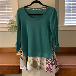 Anthropologie shirt by little yellow button